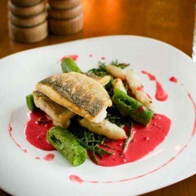 Brackenborough hotel fish dinner fine dining