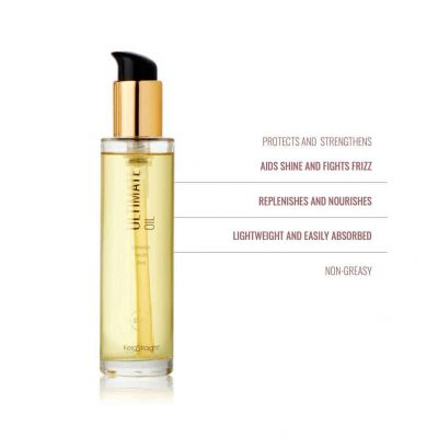Kerastraight ultra oil with information