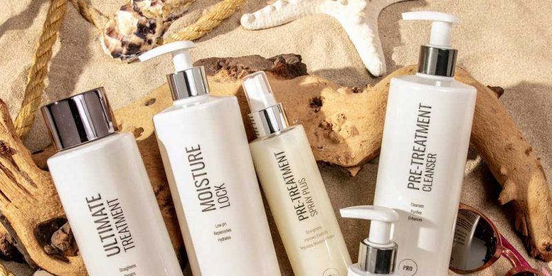 Kerastraight products on sand