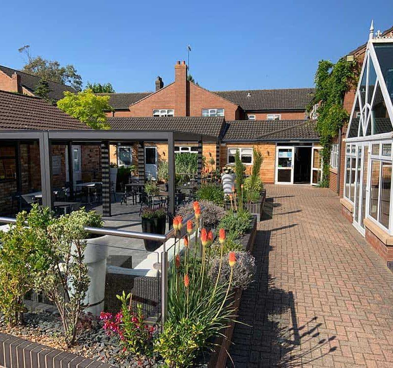 Brackenborough hotel courtyard